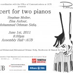 Poster - Two Pianos